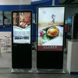 WiFi carrinho LCD do assoalho de 42 polegadas que anuncia o indicador