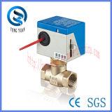 Электрический привод клапана 2-Way Латунь моторизованный клапан для фанкойлов (BS-818-25)