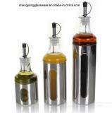 Бутылка масла обруча нержавеющей стали PC 3 стеклянная установила с крышкой