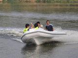 Barco inflable de la costilla de la fibra de vidrio de Liya el 14ft pequeño con el motor