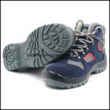 Zapato de trabajo barato de cuero del estilo del deporte del ante con la punta de acero