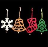 Decorações do Natal/ornamento árvore de Natal com estrela /Bell de feltro (D-11)