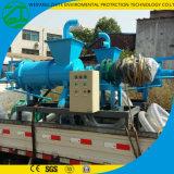 ねじ放出機械、固体液体の分離器