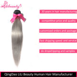 8A等級のブラジルのRemyの人間の毛髪の直毛の束