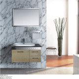 Vanidad inoxidable montada en la pared clásica del baño de acero con el espejo