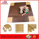 非臭いのエヴァの床のマットのエヴァの泡の木製の穀物のマット