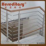 Балюстрада штанги нержавеющей стали с деревянным поручнем в лестнице разделяет (SJ-X1014)