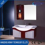 ミラーと現代高品質の純木の浴室の虚栄心