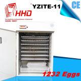 Яичко цыпленка Hhd польностью автоматическое насиживая машину для 1232 яичек