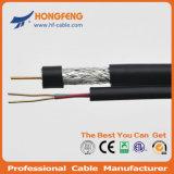 Кабель RG6+2c кабеля обеспеченностью сиамский