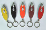Ovale LED Flashing Key Chain mit Logo Printed