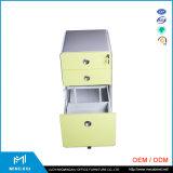 ルオヤンの高品質3の引出しのファイルキャビネット/ボックス鋼鉄移動式ファイル軸受け