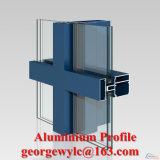 Do perfil de alumínio revestido da extrusão do pó do revestimento do pó perfil de alumínio para a parede de cortina