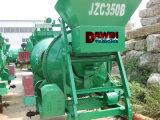 Misturador concreto montado reboque do cilindro do motor Diesel com sistema de levantamento do funil hidráulico
