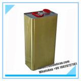 Золотистый Tinplate Can_5liters металла для упаковывая химикатов