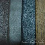Bronzare il tessuto di cuoio 100% di Nubuck del poliestere della pelle scamosciata per la casa