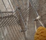Cestino del sapone dell'acciaio inossidabile della stanza da bagno/cestino d'angolo