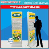 Señalización publicitaria androide de Media Player Digital con el cargador del teléfono móvil