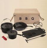 11PCS鋳鉄のDucthのオーブン一定BBQ一定の屋外のキャンプセット