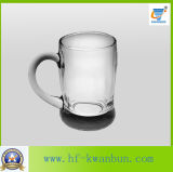 Prezzo poco costoso stabilito della tazza di vetro calda con la cristalleria Kb-Hn086 della maniglia