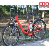 Bicicleta elétrica da cidade com bateria de lítio