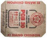 Sac Chine étanche à l'humidité à sac de la colle de soupape de bas de bloc tissé par pp