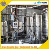 Handelsbier-Brauerei-Gerät, schlüsselfertiges Projekt-Bier-Brauerei-Systems-Mikrobrauerei-Geräte mit abkühlendem Gärungserreger für Verkauf