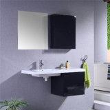Шкаф PVC просто конструкции установленный стеной черный с бортовым шкафом