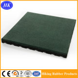 Étage en caoutchouc durable de couleur verte de cour de jeu en gros de gymnastique