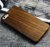 Caixa de madeira em branco feita sob encomenda do telefone para o iPhone 6s/6 mais a caixa de bambu do telefone de pilha