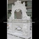 De binnen Witte Marmeren Afdekplaat van Carrara voor Decoratie mfp-665 van het Huis