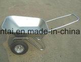Bandeja de Galavanized e Wheelbarrow mais barato das rodas do dobro do frame (Wb6211)
