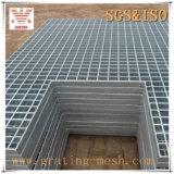 Het onbehandelde Gegalvaniseerde/Gesloten Raspen van /Steel van de Staaf voor Platform
