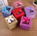 Het creatieve Vierkante Transparante Vakje van de Gift van het Document met Mooie Bowknot, het Vakje van de Gift van de Appel van Kerstmis, het Vakje van de Gift van het Suikergoed, het Vakje van de Verpakking van Nice