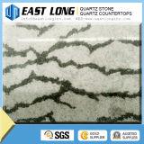 Lajes de mármore pretas artificiais da pedra de quartzo da cor/pedra artificial de quartzo