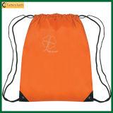 Sac de sac à dos de cordon de polyester de sac de molleton de promotion (Tp-Bp020)