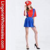 Kostuum van het Kostuum van Mario Brother het Adult van de Partij van Halloween van vrouwen