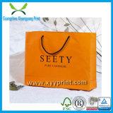 Sac de papier de sac de papier de cadeau fait sur commande d'achats avec le traitement