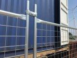 42 mícrons de painéis provisórios galvanizados mergulhados quentes da cerca da construção portátil