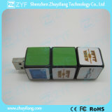 Würfelförmiges Kombinationsschloss-Form USB-Blitz-Plastiklaufwerk (ZYF1817)