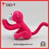 Het rode Stuk speelgoed van de Pluche van de Aap van het Stuk speelgoed van de Pluche Aap Gevulde