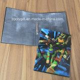 Carpeta de fichero de papel de encargo de la carpeta de anillo de la impresión 2-O A4