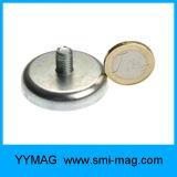 De Kop van het neodymium om de Magneet van de Pot van de Basis met Externe Draad/Mannelijke Draad