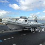 Liya großes 8.3m Hypalon aufblasbares Fiberglas-Rumpf-Boot