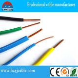 Fio à terra 300V 500V isolação elétrica do PVC do fio da conduta do cobre do fio da única