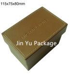 Lederner Verpackungs-Plastikkasten der Uhr-Jy-Wb16 mit kundenspezifischem Firmenzeichen