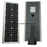 6W-80W todo em uma luz de rua solar do diodo emissor de luz de Desige