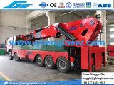 100t de hydraulische Opgezette Kraan van de Boom van het Gewricht van de Kraanbalk Vrachtwagen