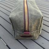 Навощенный набор Dopp холстины с кожаный ручкой