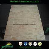 madera contrachapada de la base de la madera dura de la ranura de 15m m